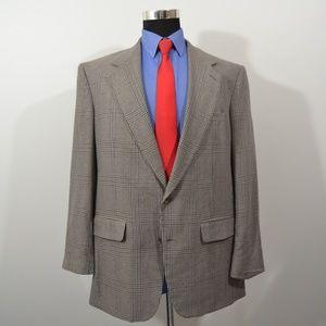 Bill Blass 42R Sport Coat Blazer Suit Jacket Gray